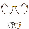 Clear Lens Glasses Rectangle Geek VTG 70's Style Unisex Frame - Sunglassinn