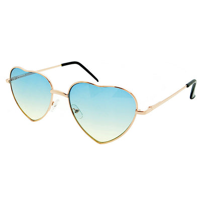 Ladies Heart shaped Sunglasses Boho Lolita Blue