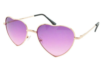 Ladies Heart shaped Sunglasses Boho Lolita Purple