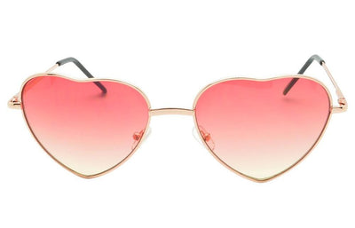 Ladies Heart shaped Sunglasses Boho Lolita Pink