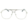 Square Frame Classic Clear Lens Pilot Aviator Crossbar Glasses - Sunglassinn