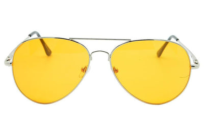 Retro colour Lens Metal Teardrop aviator Sunglasses - Sunglassinn