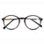Hippie Super VTG Limited Oval Clear Lens Professor Glasses - Sunglassinn