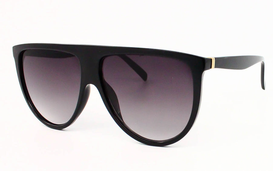 Oversized Sqaure Frame Flattop Ladies Sunglasses