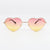 Ladies Heart shaped Sunglasses Boho Lolita Fashion Glasses - Sunglassinn