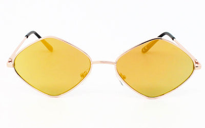 Quality Unisex Small Metal Frame Retro 90's Mirror Lens Sunglasses - Sunglassinn