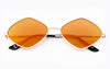 Metal Frame Retro 1990's Diamond Lens Sunglasses
