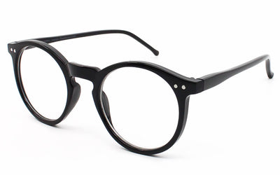 Thin round geek nerd clear lens glasses eyeglasses - Sunglassinn