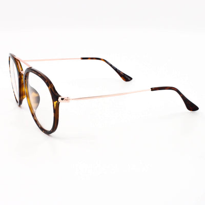 Oval Geek Clear Lens Pilot Aviator 60's Glasses - Sunglassinn