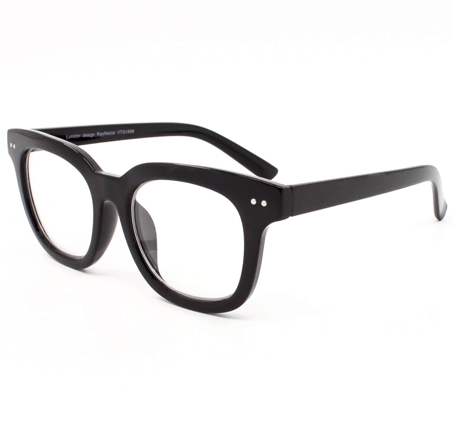 1d3abbbceff Thick Frame Bold Square Old School Hip Hop Clear Lens Glasses - Sunglassinn