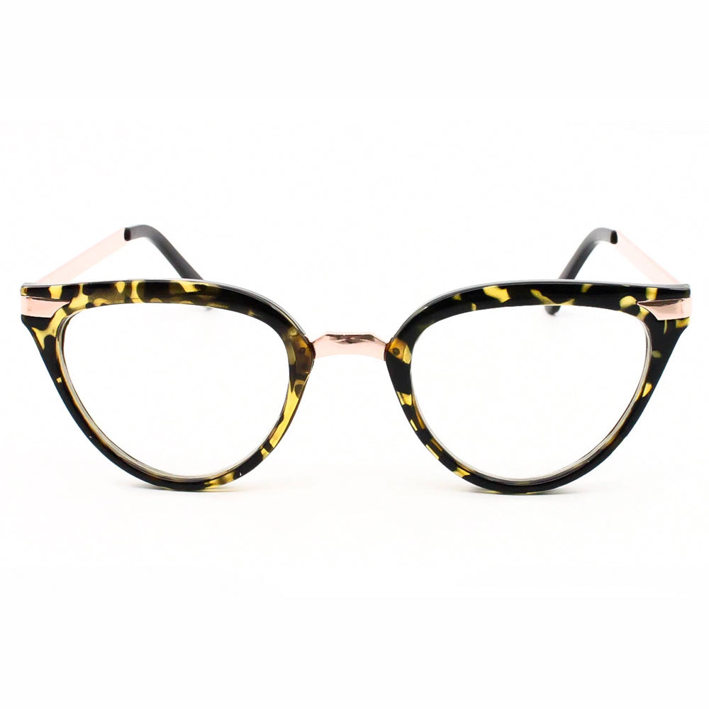 Ladies thick bold frame 80's Cat eye clear lens glasses - Sunglassinn