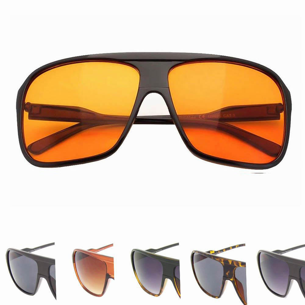 2e2a78e3274 Brentwood Black Frame Orange Lens Aviator Sunglasses - Sunglassinn