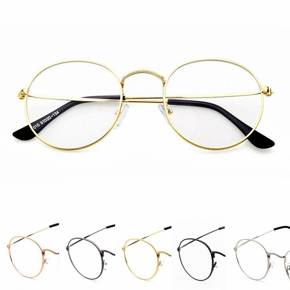 0fdf273c405 Oval Round Clear Lens Fashion Unisex Glasses 50 s - Sunglassinn