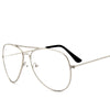 Clear Lens Aviator Sunglasses Fashion Frame Pilot Geek Glasses - Sunglassinn