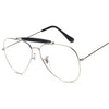 Vintage Pilot Tear Drop Aviator Style Clear Lens Glasses - Sunglassinn