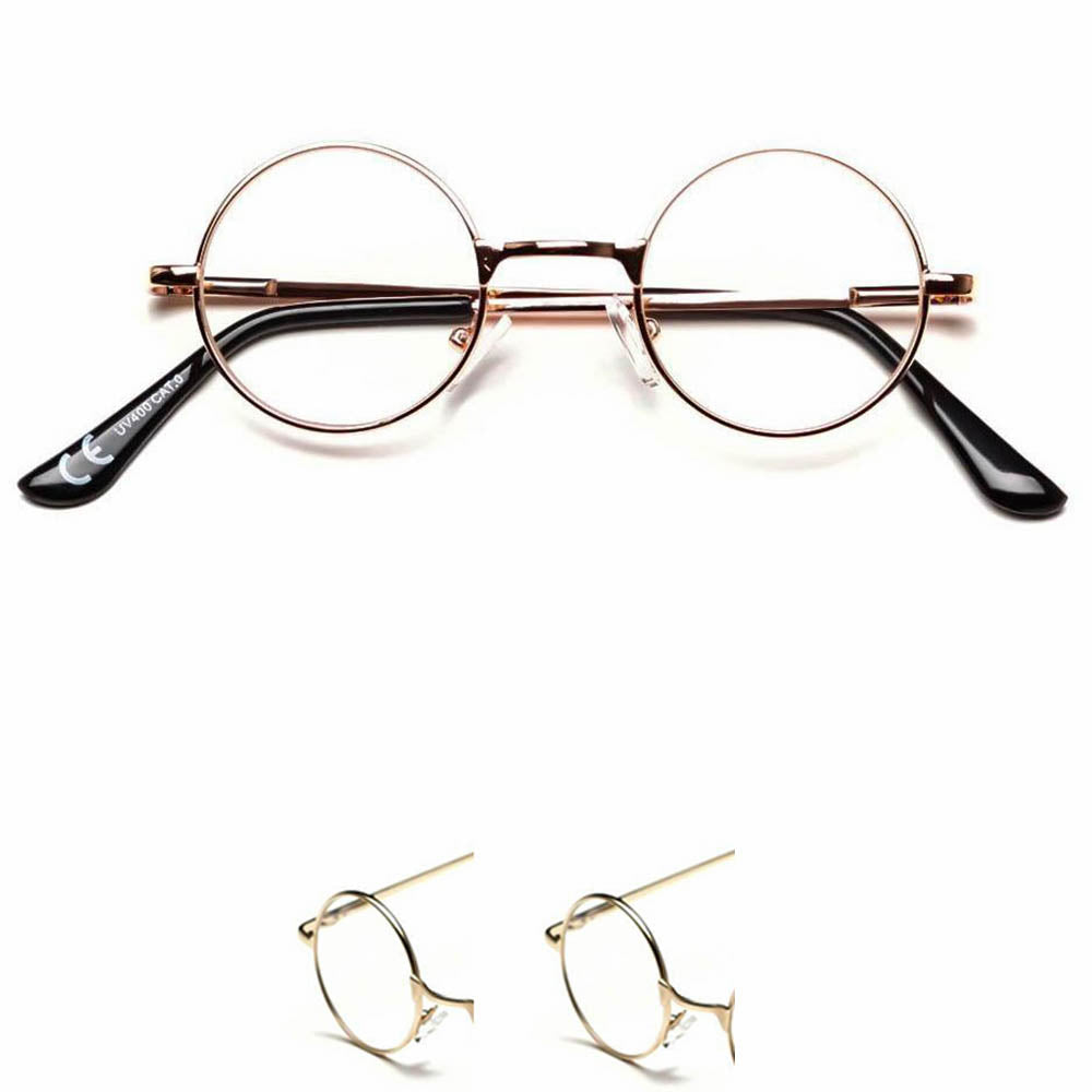 92879ccab1cc Metal Wire Frame Clear Lens Rectangular Glasses £5.99. See More Colors.  Extra Small Hippie Style Round Lennon Clear Lens Glasses - Sunglassinn