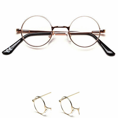 Extra Small Hippie Style Round Lennon Clear Lens Glasses - Sunglassinn