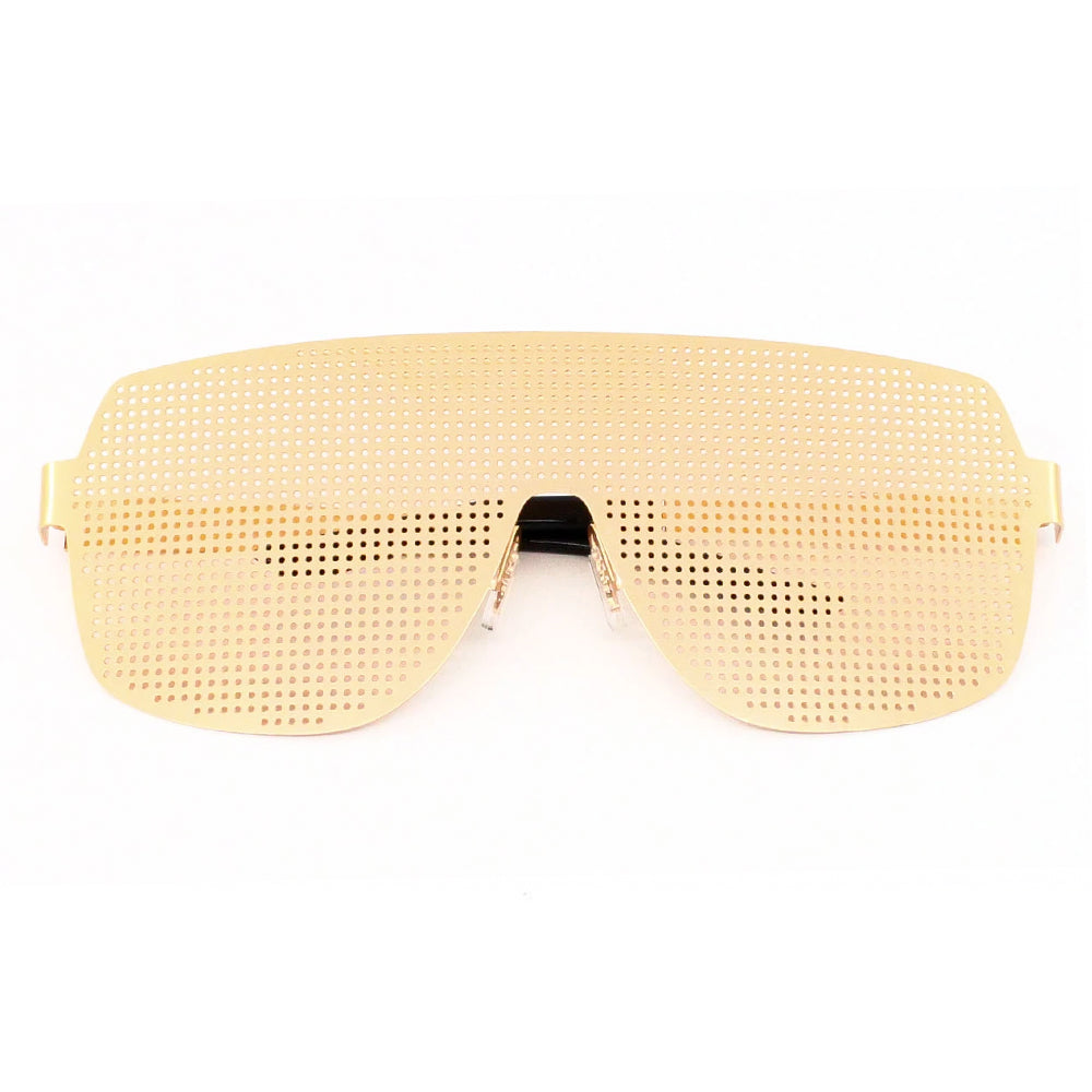 Waialae Metal Frame Pinhole Aviator Part Sunglasses - Sunglassinn