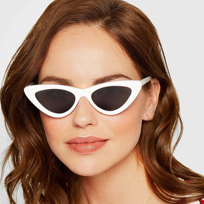 Ladies Retro Vintage Lolita Cat eye Sunglasses 90's - Sunglassinn