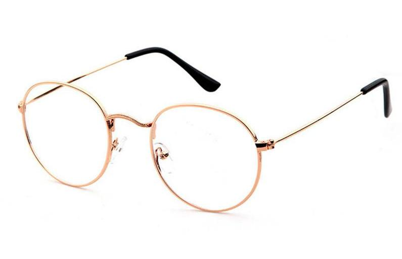 Oval Round Clear Lens Fashion Unisex Glasses 50's - Sunglassinn