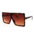 Women's Large Oversize Square Frame Sunglasses Celebrity Fashion - Sunglassinn