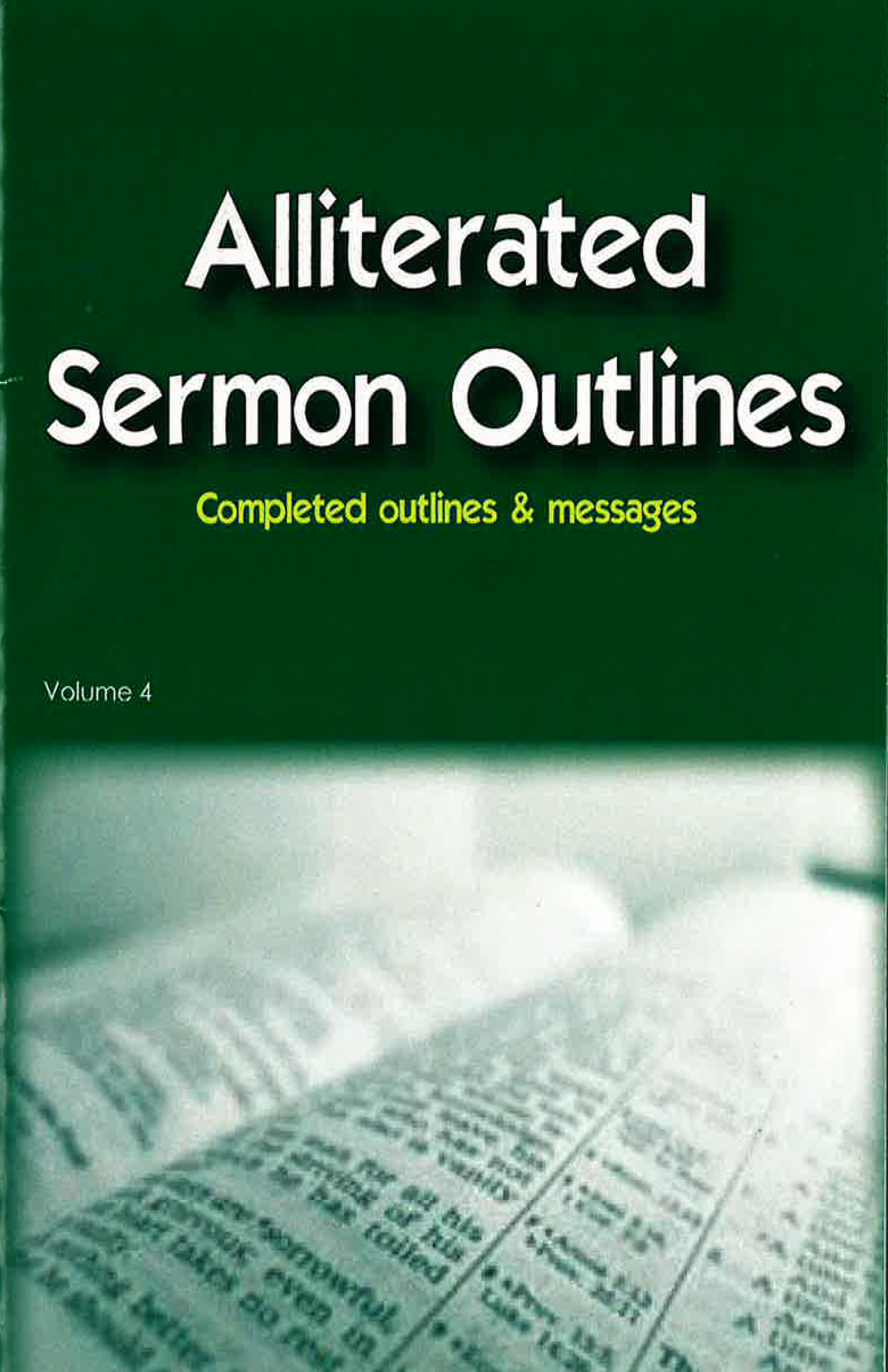 Alliterated Sermons - Volume 4