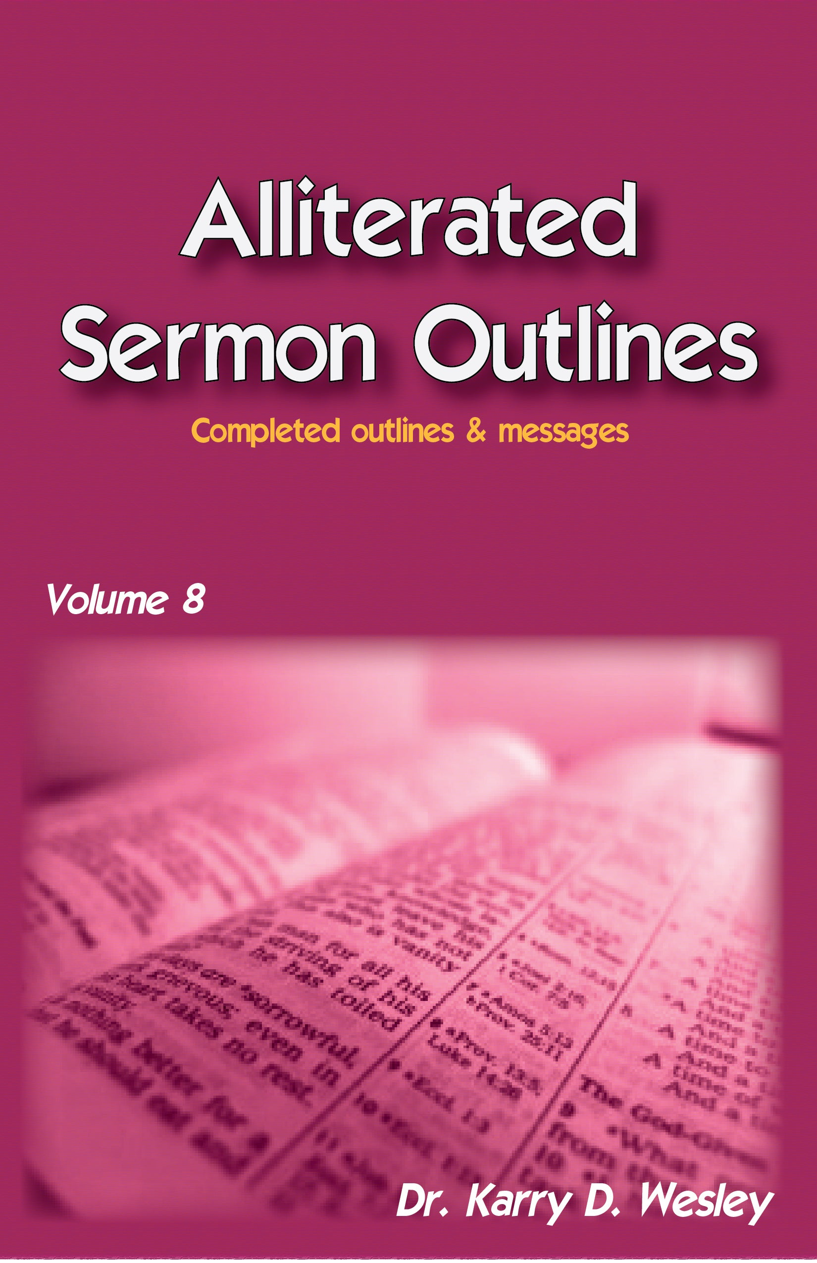 Alliterated Sermons - Volume 8