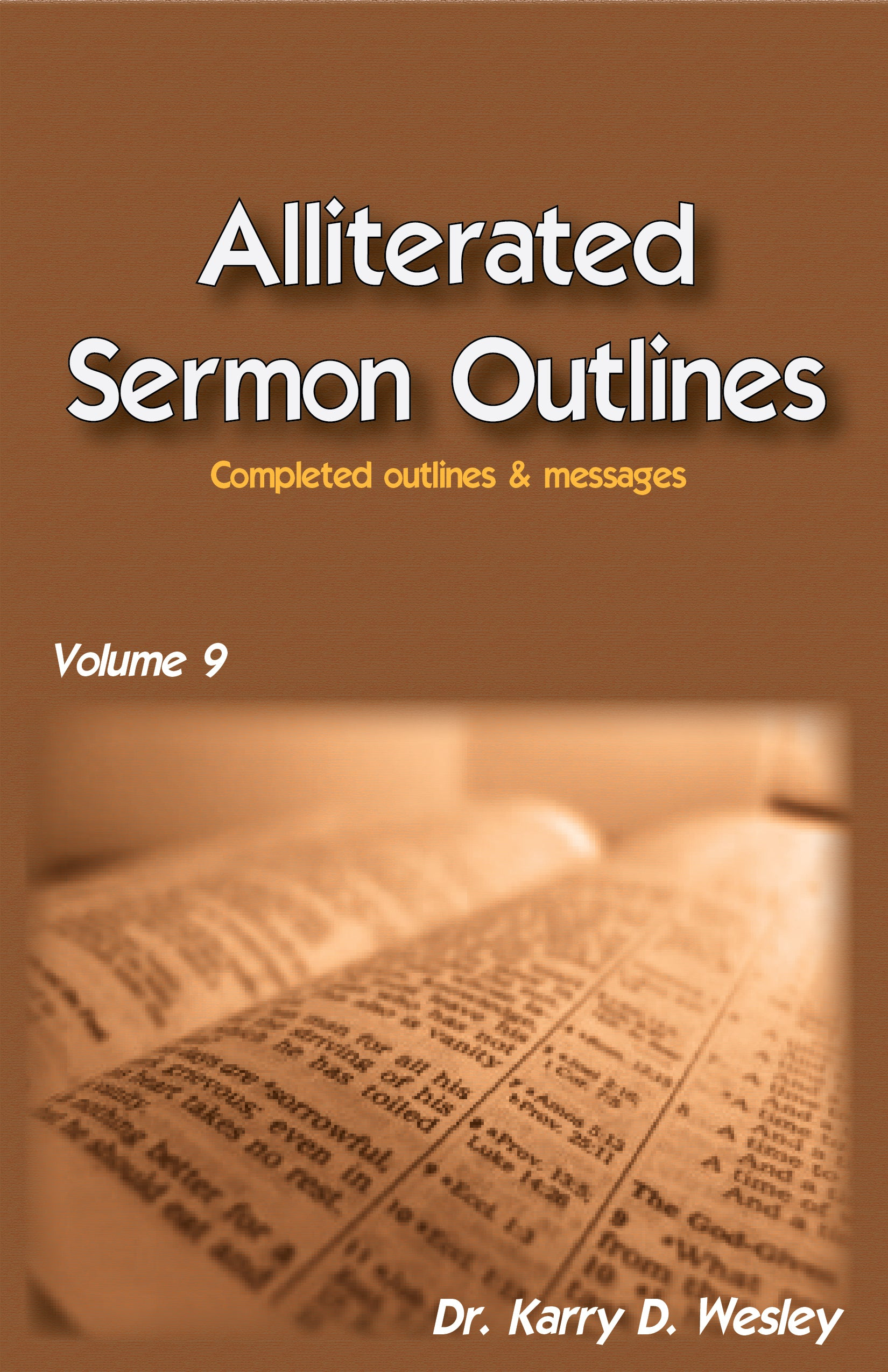 Alliterated Sermons - Volume 9