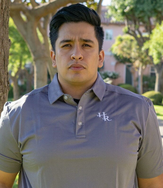 Harris Ranch Diagonal Stripe Polo Shirt