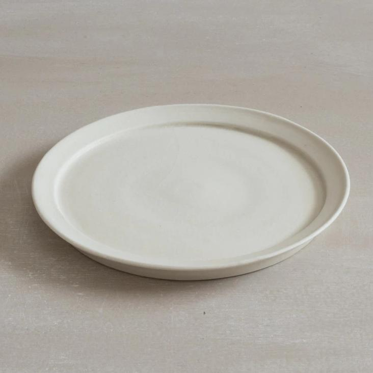 Plate white glaze - Large