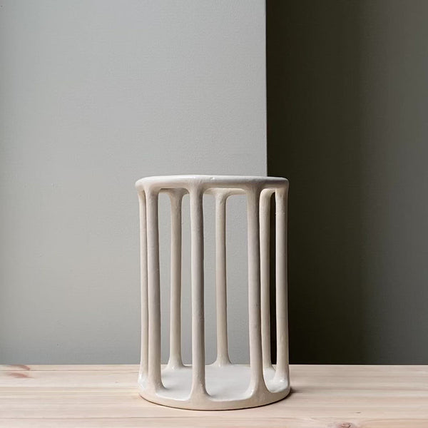Large minimalist cylindrical basket