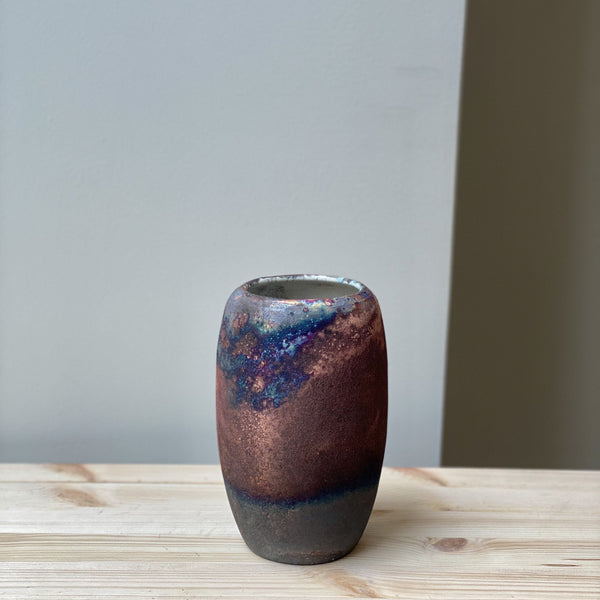 vase-Small unique Raku Vase no. 15-Léon Serre-YONOBI