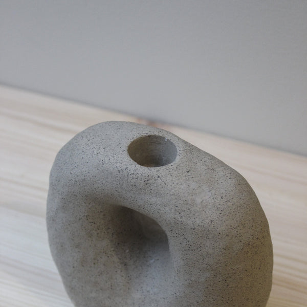 grey candle-holder