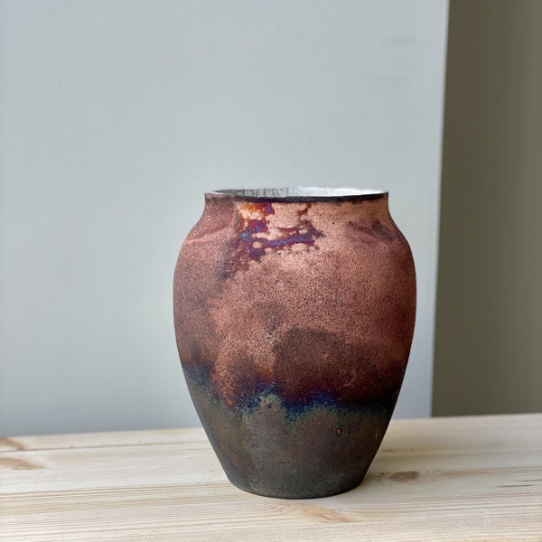 Large unique Raku Vase no. 9