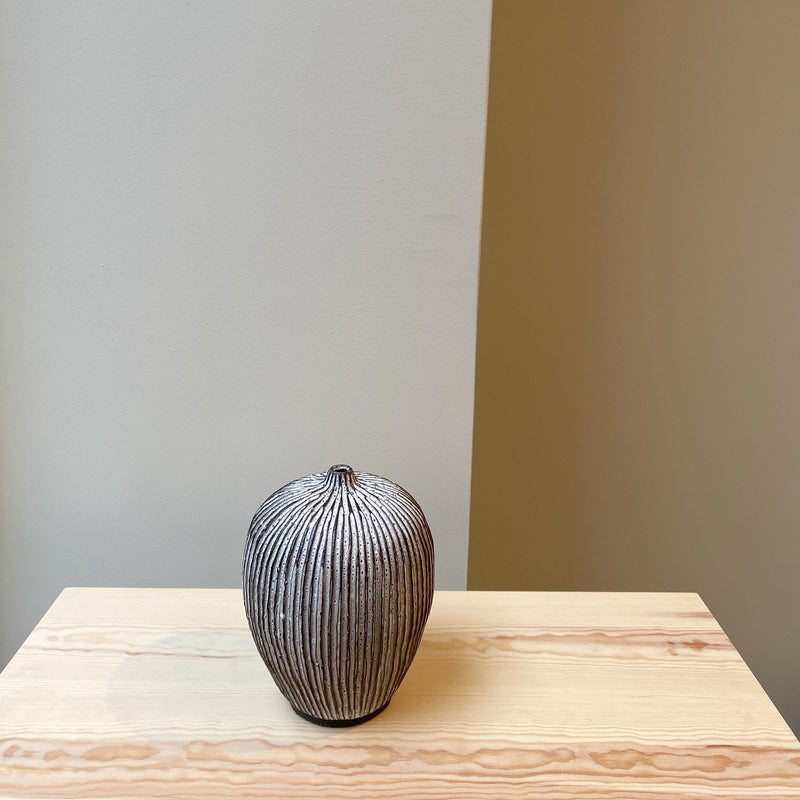 Vase-Unique Fluted Vase-Louise Egedal-YONOBI