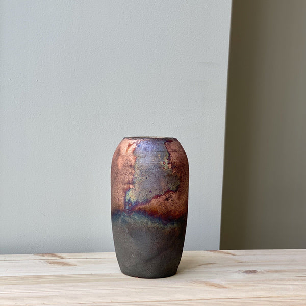 vase-Small unique Raku Vase no. 13-Léon Serre-YONOBI