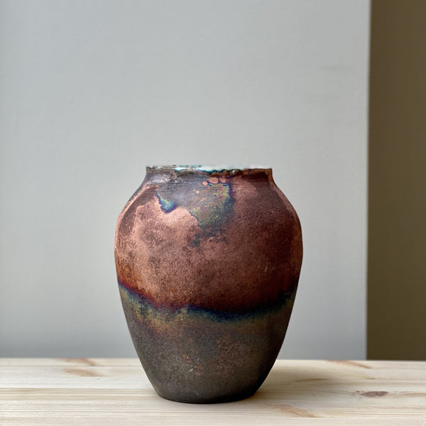 Large unique Raku Vase no. 11