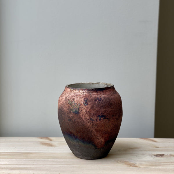 Small unique Raku Vase no. 16