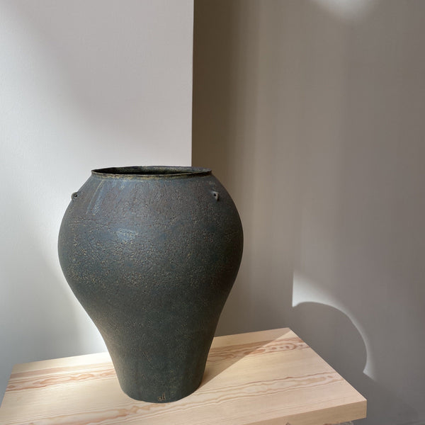 Vase-Green Big vase with 3 handles-Linda Ouhbi-YONOBI