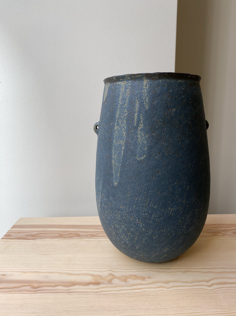 Ocre blue Cyclade vase