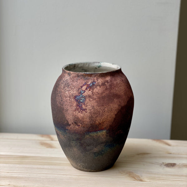 Large unique Raku Vase no. 12