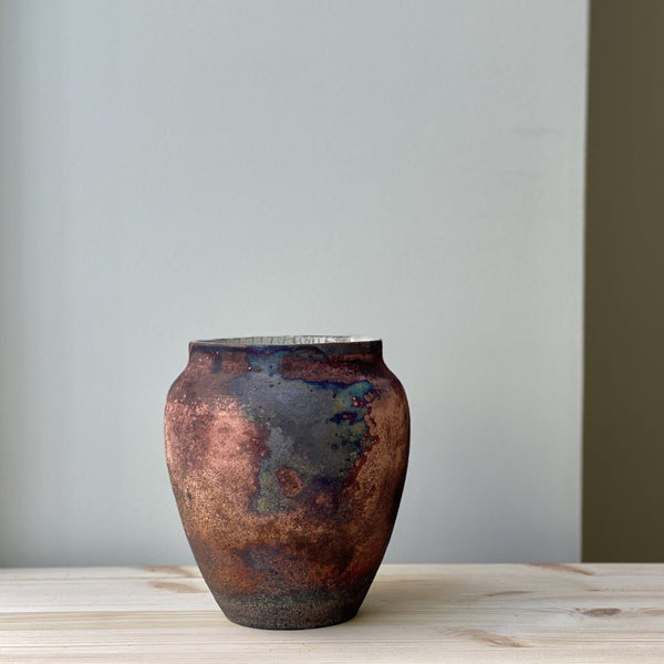 vase-Small unique Raku Vase no. 19-Léon Serre-YONOBI