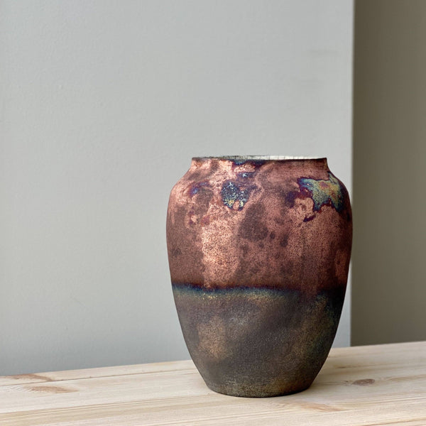 Large unique Raku Vase no. 8