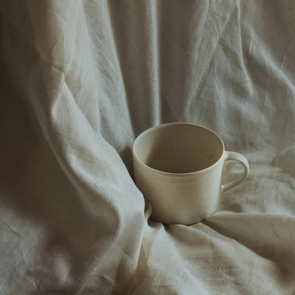 Mug White glaze - large
