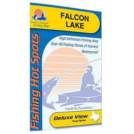 Fishing Hot Spots Falcon Lake Fishing Map