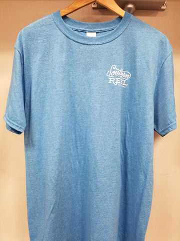 Southern Reel Outfitters Short Sleeve T-Shirts Heather Sapphire
