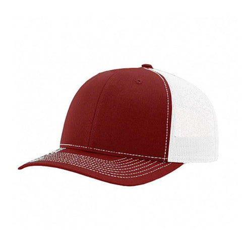 Southern Reel Outfitters hat burgundy with white mesh hat