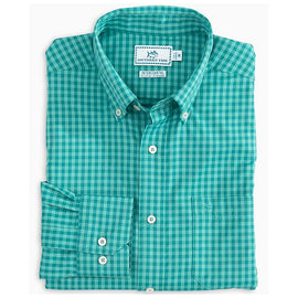 Southern Tide Rivercourse Plaid Inter-coastal Performance LS Shirt