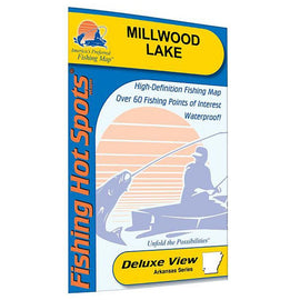 Fishing Hot Spots Millwood Lake Fishing Map