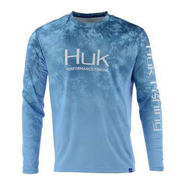 HUK Men's Icon Camo Fade Long Sleeve Shirt